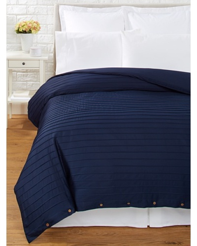 Coyuchi Pleated Sateen Duvet Cover