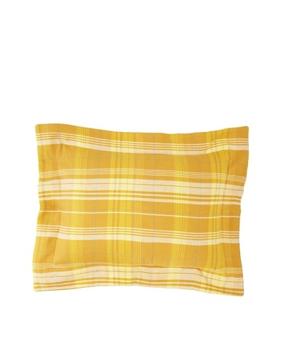 Coyuchi Edinburgh Cloud Brushed Flannel Boudoir Sham, Plaid