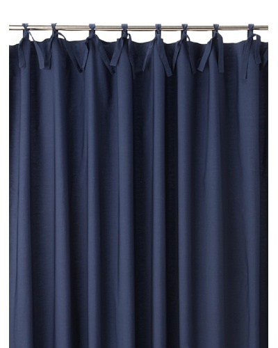 Coyuchi Pin Tuck 300 Percale Shower Curtain, Indigo