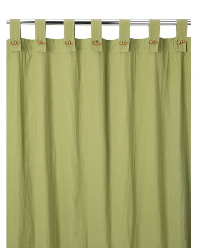 Coyuchi Seersucker Shower Curtain, Green Tea