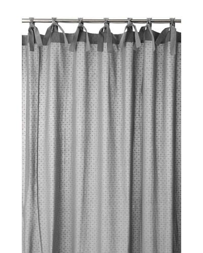 Coyuchi Swiss Dot Shower Curtain, Charcoal