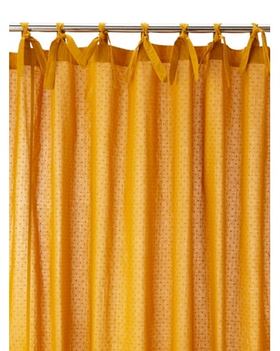 Coyuchi Swiss Dot Shower Curtain, Mustard