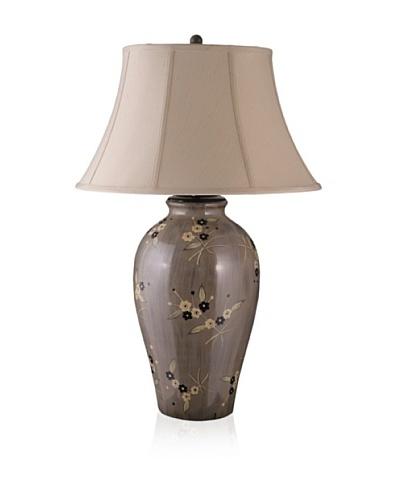 State Street Lighting Flower Design Table Lamp, Mocha