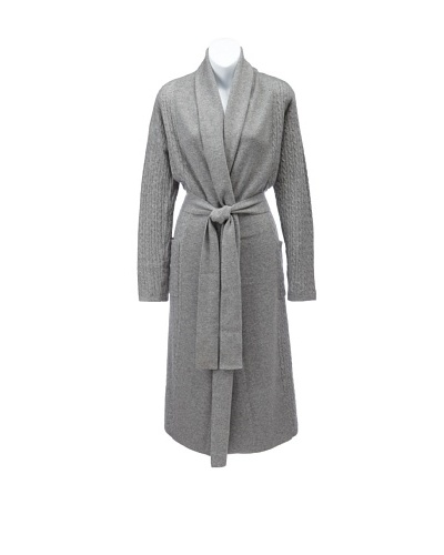 Sofia Cashmere Women's Cable-Knit Bathrobe