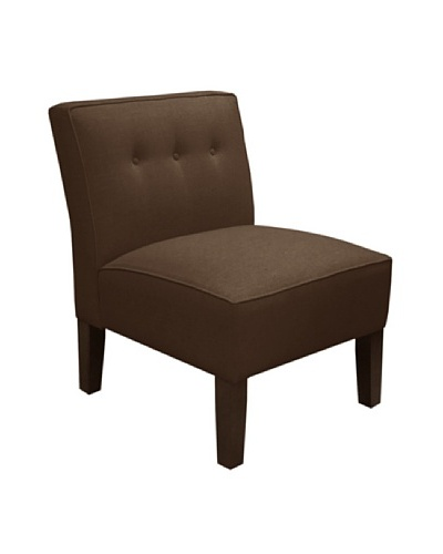 Skyline Three Button Armless Chair, Chocolate
