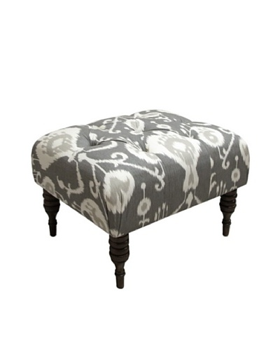 Skyline Tufted Ottoman, Pewter
