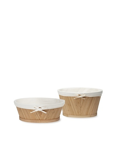 Creative Bath 2-Piece Eco Styles Towel and Vanity Basket Set, Natural/Bamboo