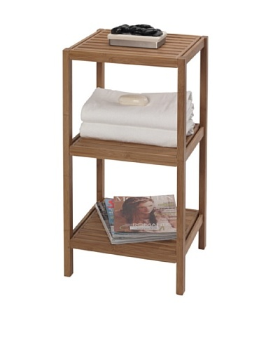 Creative Bath 3-Shelf Bamboo Tower