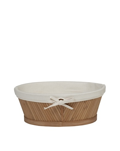 Creative Bath Oval Vanity Basket, Natural