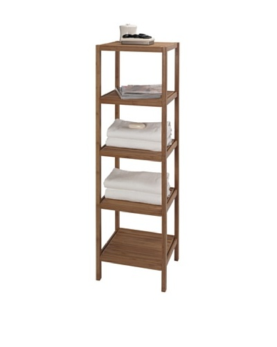 Creative Bath 5-Shelf Tower, Natural