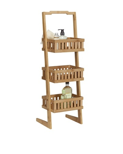 Creative Bath 3-Shelf Bamboo Vanity Valet, Natural