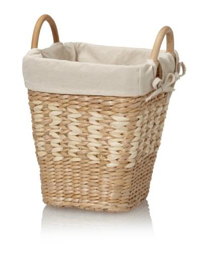 Creative Bath Lined Waste Basket [Natural/Bleach]