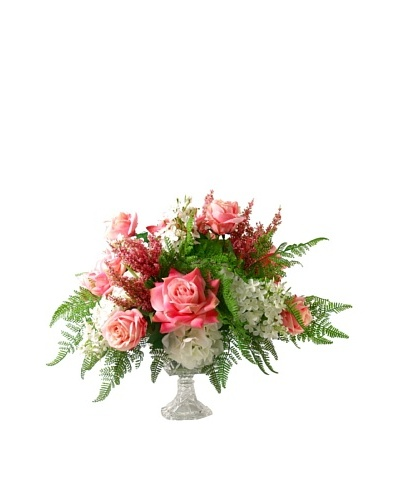 Creative Displays Pink, Green & White Floral in Glass