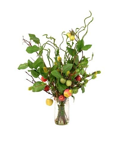 Creative Displays Apple & Berry Floral in Mason Jar