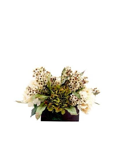 Creative Displays Green & Cream Hydrangea with Lilacs