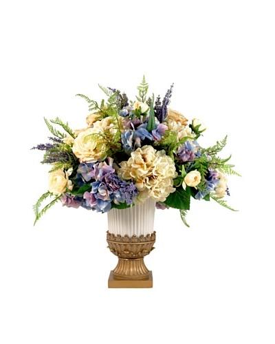 Creative Displays Purple & Cream Hydrangea & Rose Floral in Urn