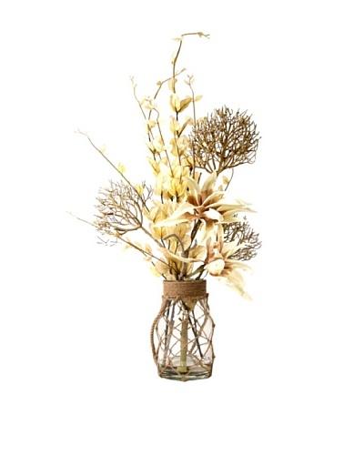 Creative Displays Yucca & Leaves in Rope Jar