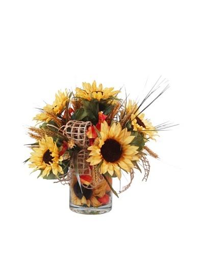 Creative Displays Sunflower Wheat Pot