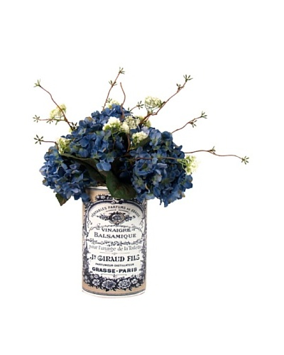 Creative Displays Blue Hydrangea Floral in Label Pot
