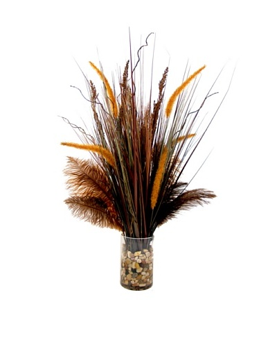 Creative Displays Cattail, Grass & Feathers