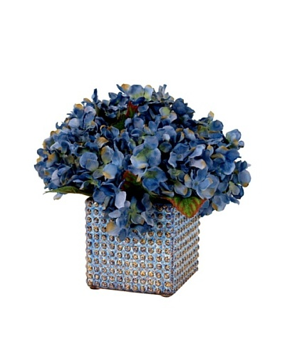 Creative Displays Blue Hydrangea in Square Pot