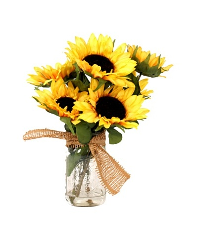 Creative Displays Sunflower in Mason Jar