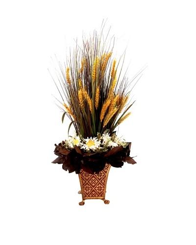Creative Displays Wheat Grass & Sunflower in Tall Planter