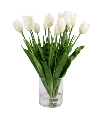 Creative Displays White Tulips in Glass