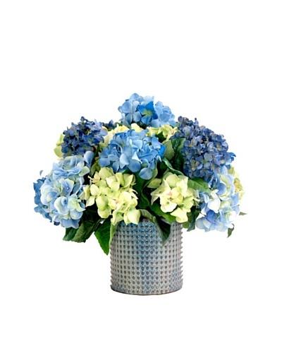 Creative Displays Blue & Green Hydrangea in Ceramic