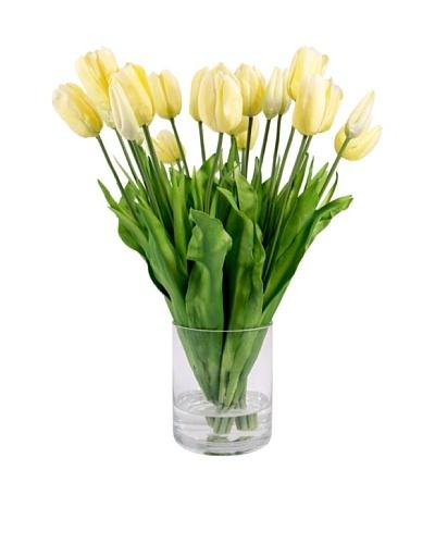Creative Displays Yellow Tulips in Glass