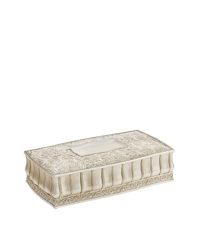 Creative Scents Victoria Rectangle Tissue Box, Beige