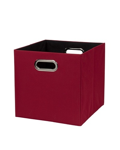CreativeWare Fold-N-Store Crate, Red