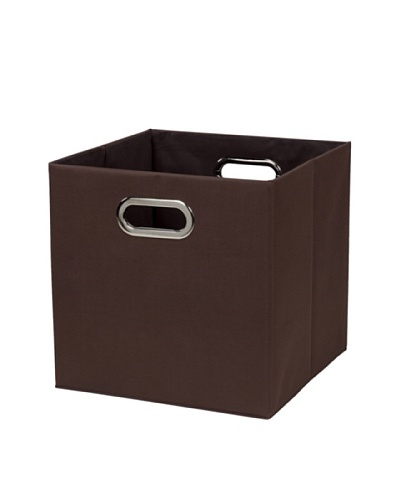 CreativeWare Fold-N-Store Crate, Brown