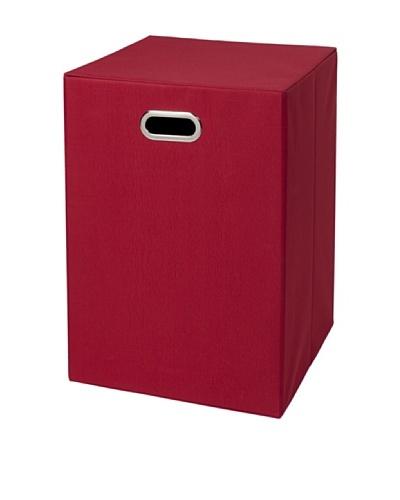 CreativeWare Fold-N-Store Hamper, Red