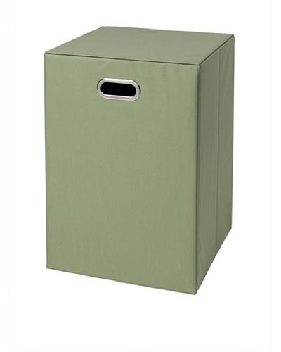 CreativeWare Fold-N-Store Hamper, Green