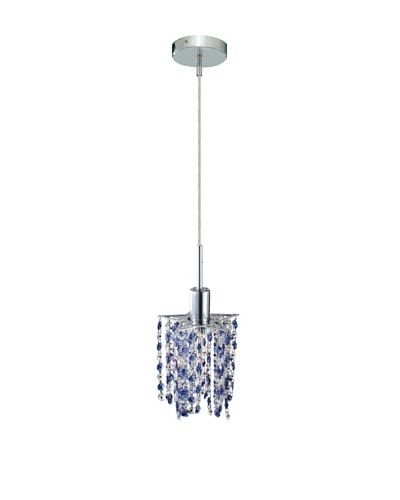 Elegant Lighting Mini Crystal Collection Star Pendant, Sapphire