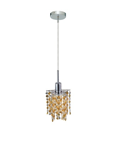 Elegant Lighting Mini Crystal Collection Star Pendant, Light Topaz