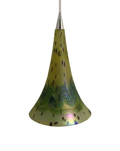 Fusion Z Glass Lighting Bianca Trumpet Pendant Lamp
