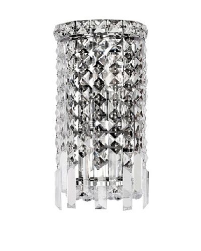 Worldwide Lighting Cascade Wall Sconce, Chrome