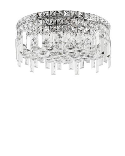 Worldwide Lighting Cascade Ceiling Light, Chrome