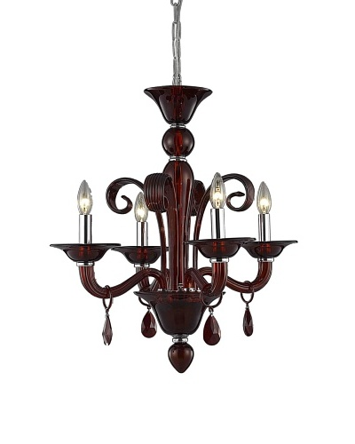 """Crystal Lighting Muse Dining Room, Red/Royal Cut Bordeaux (Red) Crystals, Dia 22"""" x H 23"""""""