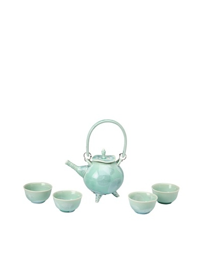 Crystalline Decorative Tea Set, Green