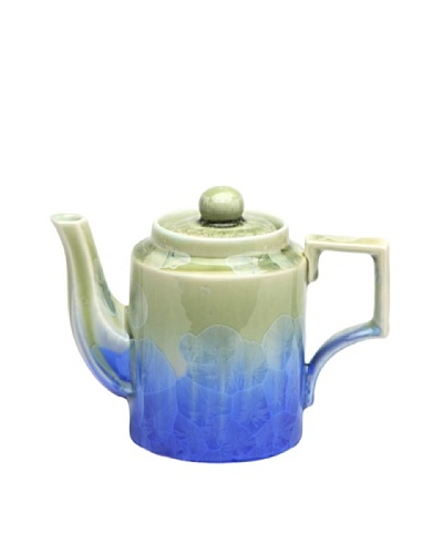 Crystalline Square-Shape Teapot, Green