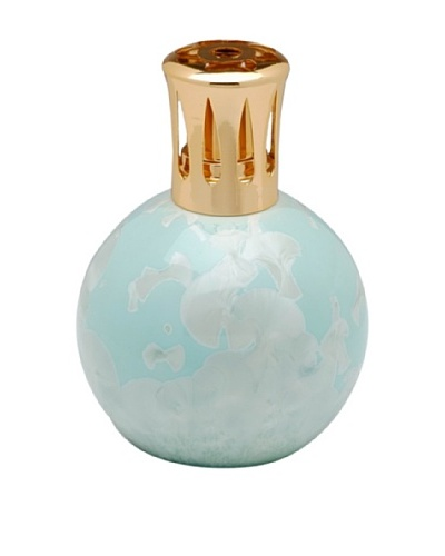 Crystalline Round Oil Lamp, Teal Blue
