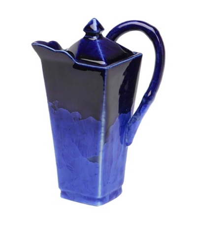 Crystalline High Square-Shape Teapot, Blue