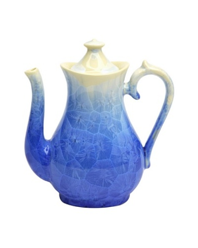 Crystalline High Round-Shape Teapot, Blue