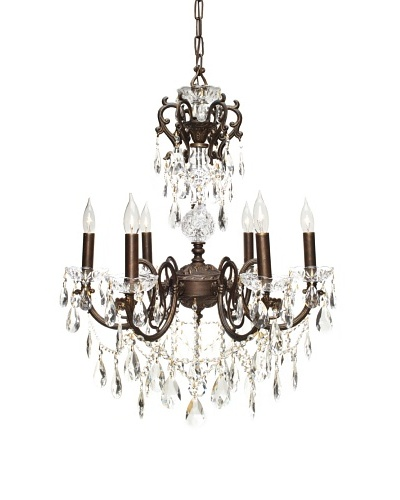 Gold Coast Lighting French Wrought Iron Chandelier, English Bronze