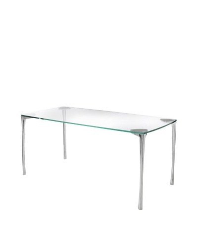Cubo Dining Table, Clear/SilverAs You See