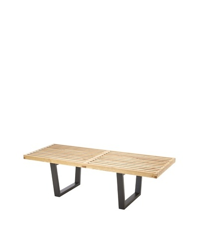 Cubo 48 Bench, Natural/Black