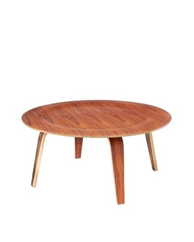 Cubo Plywood Table, Walnut